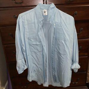 H&M Blue Button-Down Dress Shirt